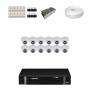 KIT 12 Câmeras Intelbras VHD 1120 D G4 + DVR Intelbras 16 Canais HD + Acessórios