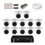 KIT 12 Câmeras Intelbras VHD 1120 D G5 + DVR Intelbras 16 Canais HD + Acessórios