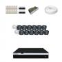 KIT 12 Câmeras Intelbras VHD 1220 B G4 + DVR Intelbras 16 Canais Full HD + Acessórios