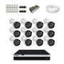 KIT 12 Câmeras Intelbras VHD 3230 B G4 + DVR Intelbras Full HD + Acessórios