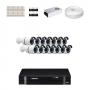 KIT 14 Câmeras Alta Resolução AHD + DVR Intelbras 16 Canais HD + Acessórios