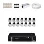 KIT 14 Câmeras Dome AHD + DVR Intelbras 16 Canais HD + Acessórios