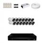 KIT 14 Câmeras HD 720p + DVR 16 Canais 1080n +  Acessórios