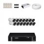 KIT 14 Câmeras Infra 1200 Linhas + DVR Intelbras 16 Canais HD + Acessórios