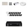 KIT 14 Câmeras HD 720p + DVR Intelbras 16 Canais HD + Acessórios