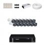 KIT 14 Câmeras Intelbras VHD 1010 B G4 + DVR Intelbras 16 Canais HD + Acessórios