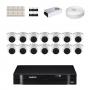 KIT 14 Câmeras Intelbras VHD 1010 D G5 + DVR Intelbras 16 Canais HD + Acessórios