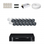 KIT 14 Câmeras Intelbras VHD 1120 B G4 + DVR Intelbras 16 Canais HD + Acessórios