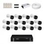 KIT 14 Câmeras Intelbras VHD 1120 B G5 + DVR Intelbras 16 Canais HD + Acessórios