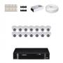 KIT 14 Câmeras Intelbras VHD 1120 D G4 + DVR Intelbras 16 Canais HD + Acessórios