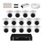 KIT 14 Câmeras Intelbras VHD 1120 D G5 + DVR Intelbras 16 Canais HD + Acessórios