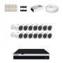 KIT 14 Câmeras Intelbras VHD 3230 B G4 + DVR Intelbras 16 Canais Full HD + Acessórios