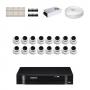 KIT 16 Câmeras Dome AHD + DVR Intelbras 16 Canais HD + Acessórios