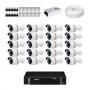 KIT 16 Câmeras Alta Resolução + DVR Intelbras 16 Canais HD + Acessórios