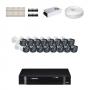 KIT 16 Câmeras Intelbras VHD 1010 B G4 + DVR Intelbras 16 Canais HD + Acessórios