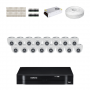 KIT 16 Câmeras Intelbras VHD 1010 D G4 + DVR Intelbras 16 Canais HD + Acessórios