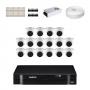 KIT 16 Câmeras Intelbras VHD 1010 D G5 + DVR Intelbras 16 Canais HD + Acessórios