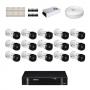 KIT 16 Câmeras Intelbras VHD 1120 B G5 + DVR Intelbras 16 Canais HD + Acessórios