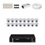 KIT 16 Câmeras Intelbras VHD 1120 D G4 + DVR Intelbras 16 Canais HD + Acessórios