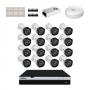 KIT 16 Câmeras Intelbras VHD 3230 B G4 + DVR Intelbras 16 Canais Full HD + Acessórios