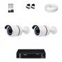 KIT 2 Câmeras Alta Resolução + DVR Intelbras 4 Canais HD + Acessórios