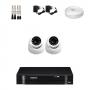 KIT 2 Câmeras Dome AHD + DVR Intelbras 4 Canais HD + Acessórios