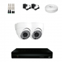 KIT 2 Câmeras Dome HD 720p + DVR 4 Canais 1080n + Acessórios