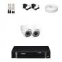 KIT 2 Câmeras Dome Infra 1200 Linhas + DVR Intelbras 4 Canais HD + Acessórios