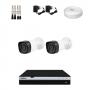 KIT 2 Câmeras Infra 1080p + DVR Intelbras 4 Canais Full HD + Acessórios