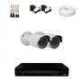 KIT 2 Câmeras HD 720p + DVR 4 Canais 1080n +  Acessórios