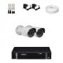 KIT 2 Câmeras Infra 1200 Linhas + DVR Intelbras 4 Canais HD + Acessórios