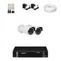 KIT 2 Câmeras de Segurança HD 720p + DVR Intelbras 4 Canais HD + Acessórios