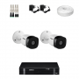 KIT 2 Câmeras Intelbras VHD 1010 B G5 + DVR Intelbras 4 Canais HD + Acessórios