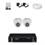 KIT 2 Câmeras Intelbras VHD 1010 D G4 + DVR Intelbras 4 Canais HD + Acessórios