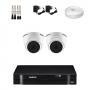 KIT 2 Câmeras Intelbras VHD 1010 D G5 + DVR Intelbras 4 Canais HD + Acessórios