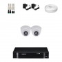KIT 2 Câmeras Intelbras VHD 1120 D G4 + DVR Intelbras 4 Canais HD + Acessórios
