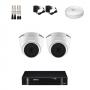 KIT 2 Câmeras Intelbras VHD 1120 D G5 + DVR Intelbras 4 Canais HD + Acessórios