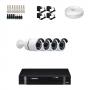 KIT 4 Câmeras Alta Resolução AHD + DVR Intelbras 4 Canais HD + Acessórios