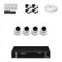 KIT 4 Câmeras Dome AHD + DVR Intelbras 4 Canais HD + Acessórios