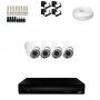 KIT 4 Câmeras Dome HD 720p + DVR 4 Canais 1080n + Acessórios