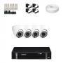 KIT 4 Câmeras Dome Infra 1200 Linhas + DVR Intelbras 4 Canais HD + Acessórios