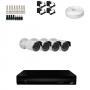 KIT 4 Câmeras HD 720p + DVR 4 Canais 1080n +  Acessórios