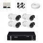 KIT 4 Câmeras HD 720p + DVR Intelbras 4 Canais HD + Acessórios