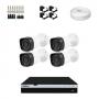 KIT 4 Câmeras Infra 1080p + DVR Intelbras 4 Canais Full HD + Acessórios