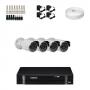 KIT 4 Câmeras Infra 1200 Linhas + DVR Intelbras 4 Canais HD + Acessórios