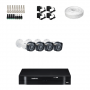 KIT 4 Câmeras Intelbras VHD 1010 B G4 + DVR Intelbras 4 Canais HD + Acessórios