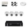 KIT 4 Câmeras Intelbras VHD 1010 D G4 + DVR Intelbras 4 Canais HD + Acessórios