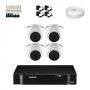KIT 4 Câmeras Intelbras VHD 1010 D G5 + DVR Intelbras 4 Canais HD + Acessórios