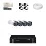 KIT 4 Câmeras Intelbras VHD 1120 B G4 + DVR Intelbras 4 Canais HD + Acessórios