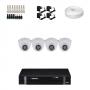 KIT 4 Câmeras Intelbras VHD 1120 D G4 + DVR Intelbras 4 Canais HD + Acessórios